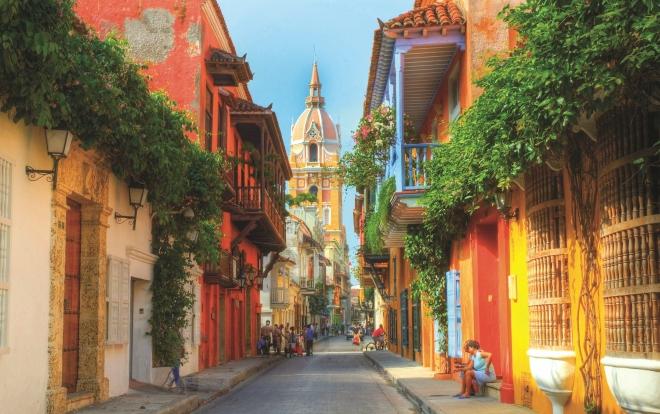 Centro histórico (Old Town) de Cartagena.