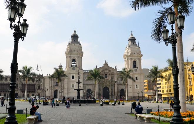 Plaza de Armas, em Lima.