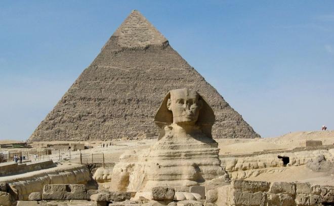 Esfinge de Gizé, no Cairo.